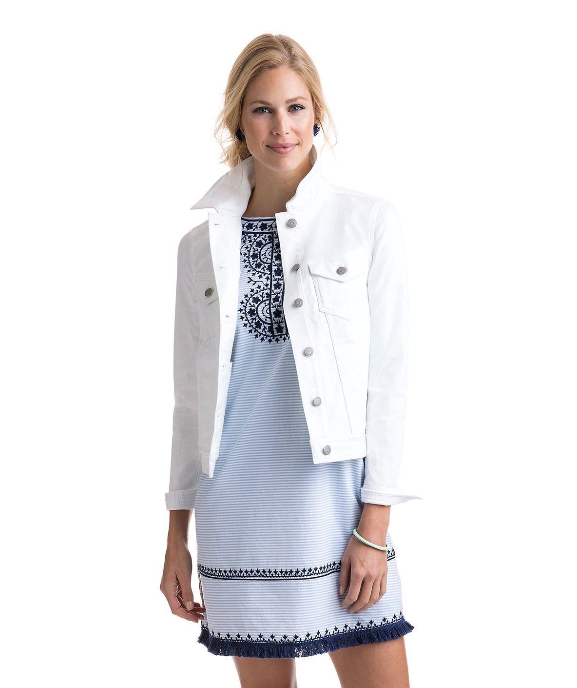 Vineyard vines white denim jacket xxs products pinterest