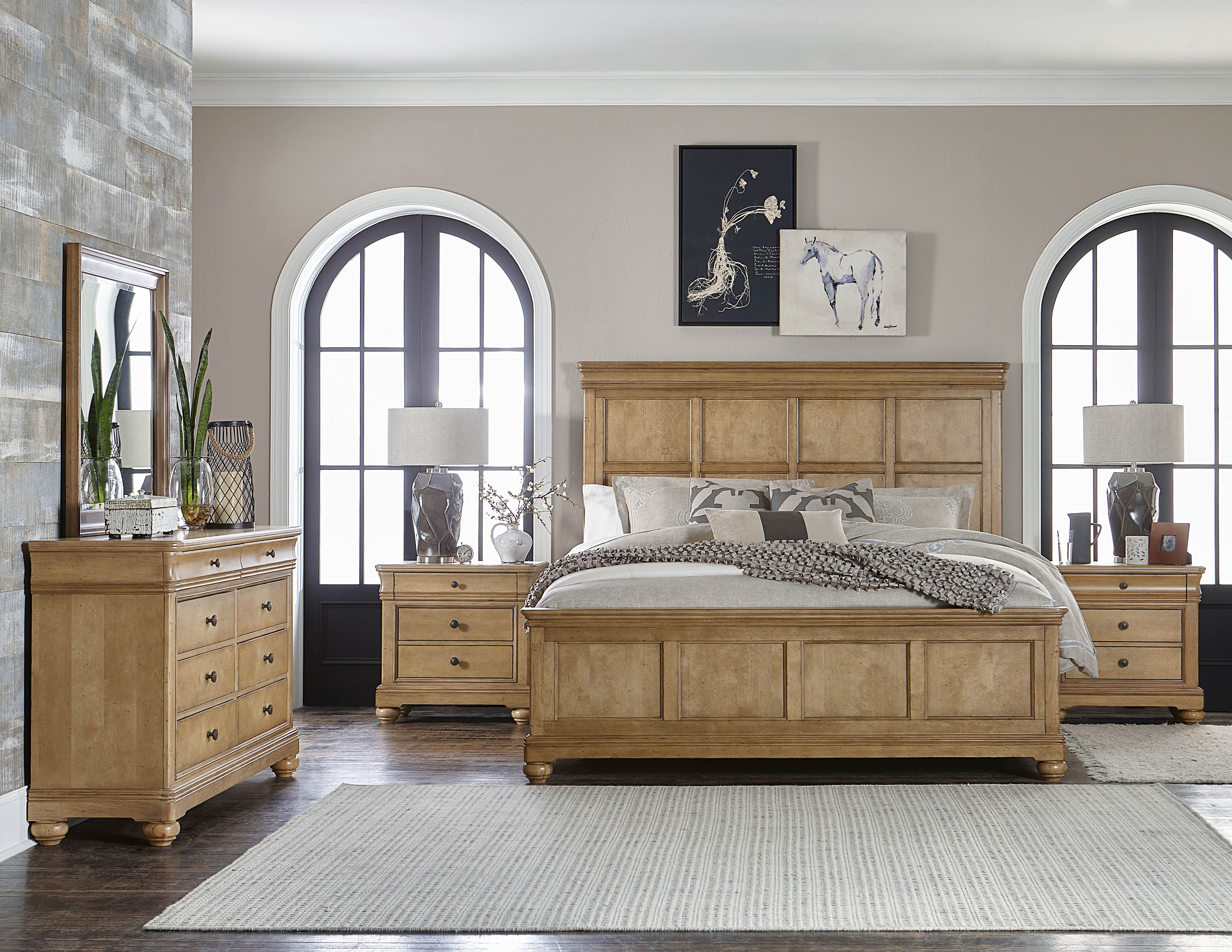 Ashby woods bedroom shown with panel bed legacy classic furniture