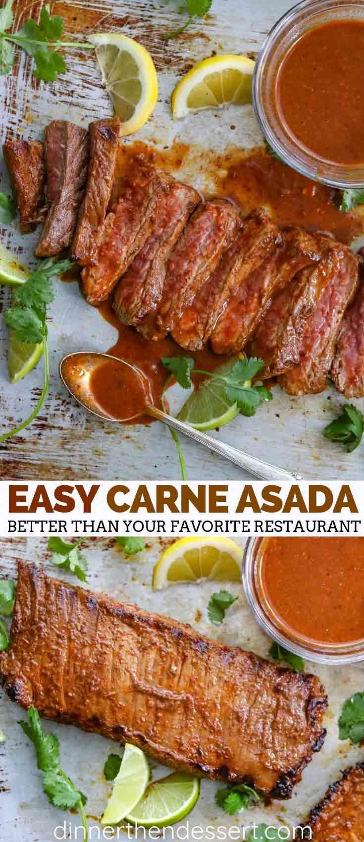 Easy Carne Asada - Dinner, then Dessert