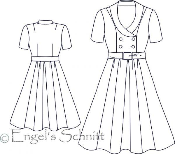 E-Book - Kleid Marion - NK: mittel | 50 jahre kleider, 50er jahre ...