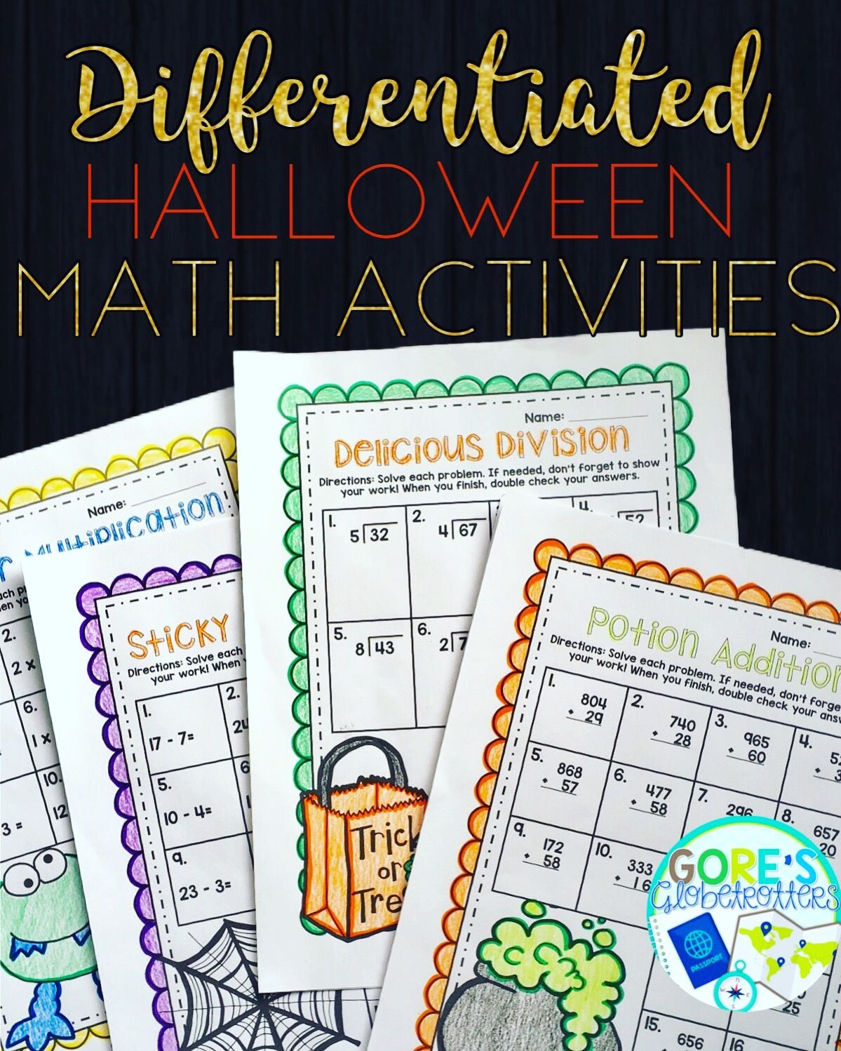 Pin By Gore S Globetrotters On Matematik Basic Math Skills Differentiated Math Activities Halloween Math Activities [ 1498 x 1199 Pixel ]