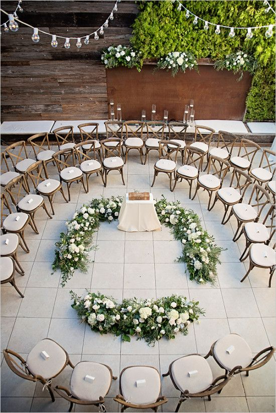 Green and White Chic Boho Wedding | Wedding Ceremony Ideas ...
