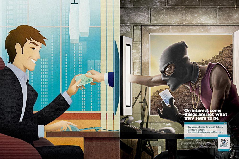 Internetsegura Print Advert By Talent Shopping Ads Of The World In 2020 Safe Internet Digital Advertising Advertising Campaign