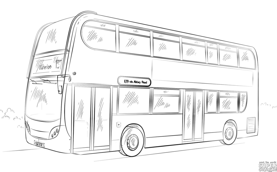 How To Draw A Public Bus Step By Step Drawing Tutorials Bus Drawing Double Decker Bus Drawing Tutorial