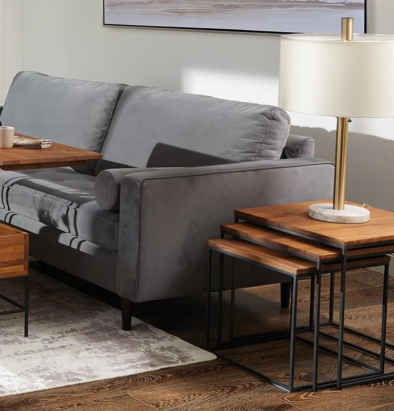 Wooden Simple End Tables | Modern living room table, Table