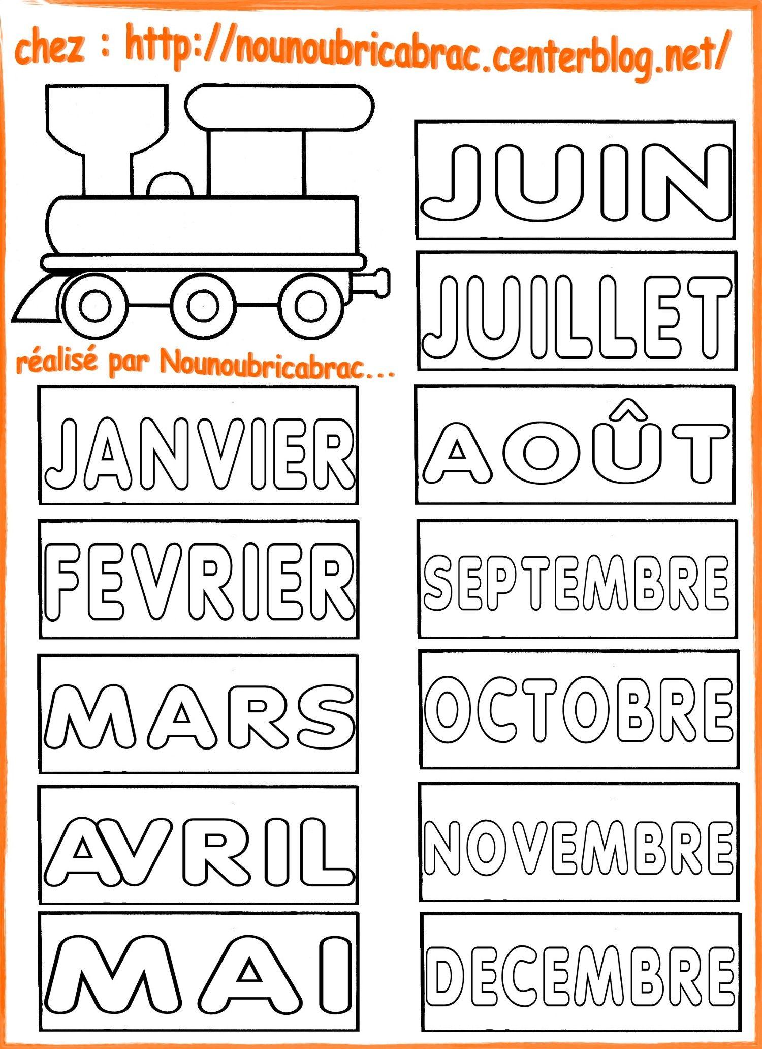 Calendrier Pinterest.Calendrier Pour Apprendre Ludiquement La Locomotive Et