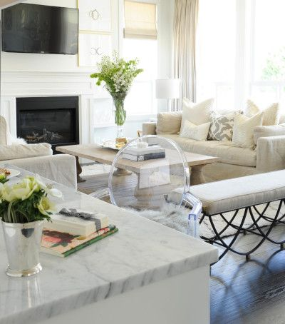 Tracey Ayton Photography   Living Rooms   Belgian Track Arm Slipcovered  Sofa, Balustrade Salvaged Wood Coffee Table, Face To Face Sofa