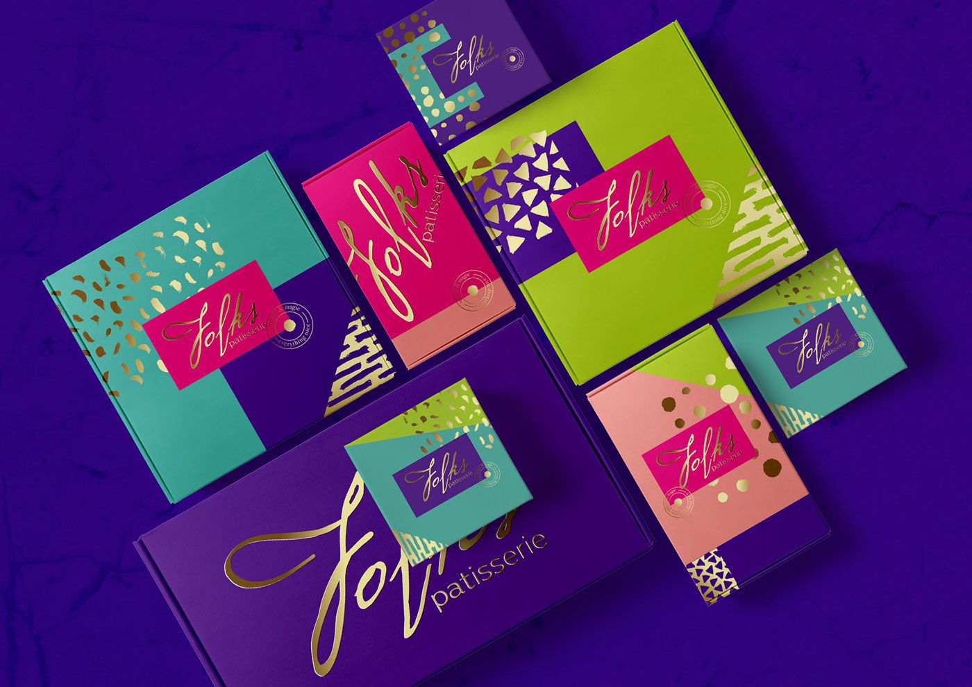 Folks Patisserie Identity and Packaging Design by Olena