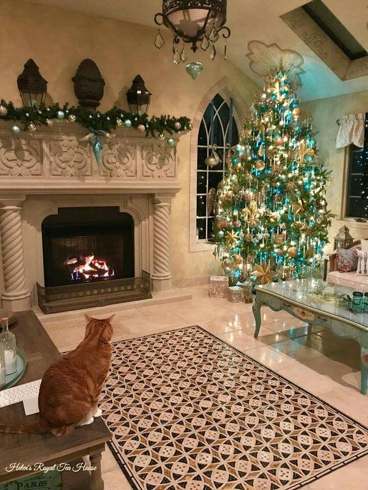 Pin by Jan Leonard on christmas trees Pinterest Christmas tree - christmas fireplace decor