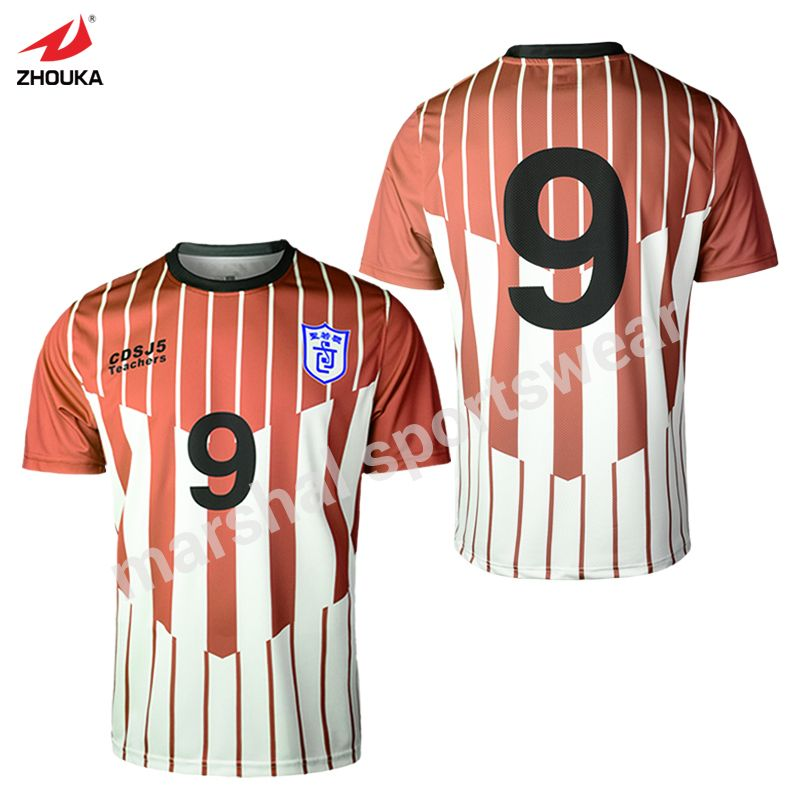 e9542d73a full sublimation custom retro jerseys tshirt OEM any color pattern soccer  jersey striped thailand football shirts