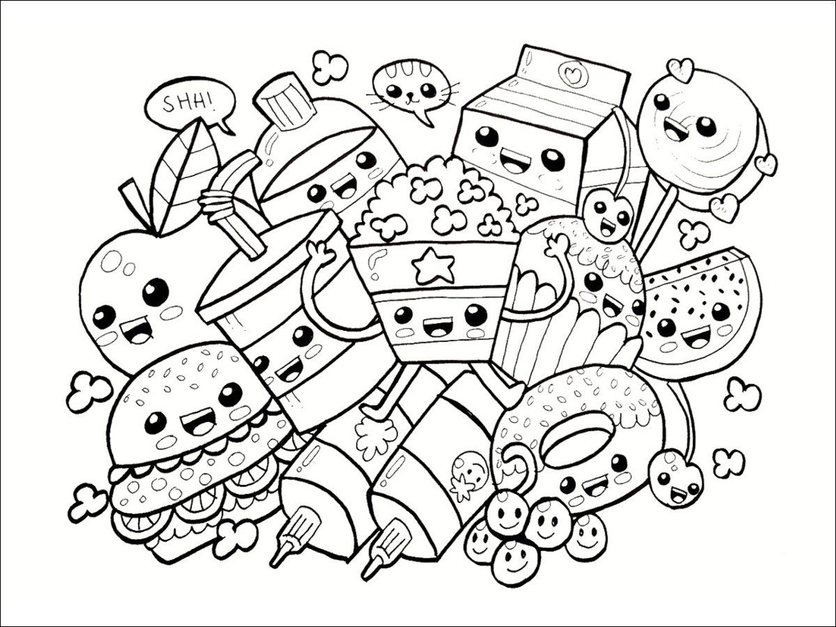 15 Qualite Image A Imprimer Licorne Photos In 2020 Cute Coloring Pages Cute Doodle Art Food Coloring Pages