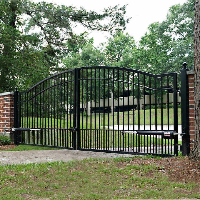 Mighty Mule Cascade 14 Dual Steel Driveway Gate Driveway Gate Entrance Gates Driveway Ranch Gates