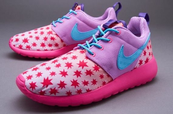 promo code 8ae5a 77cdc Nike Sportswear Roshe One Print (GS) - Girls Shoes - Prism Pink  Tad
