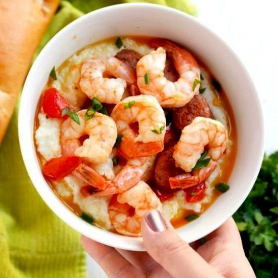 shrimp and grits. Cajun shrimp and grits is a classic comforting southern dish- shrimp garlic parme