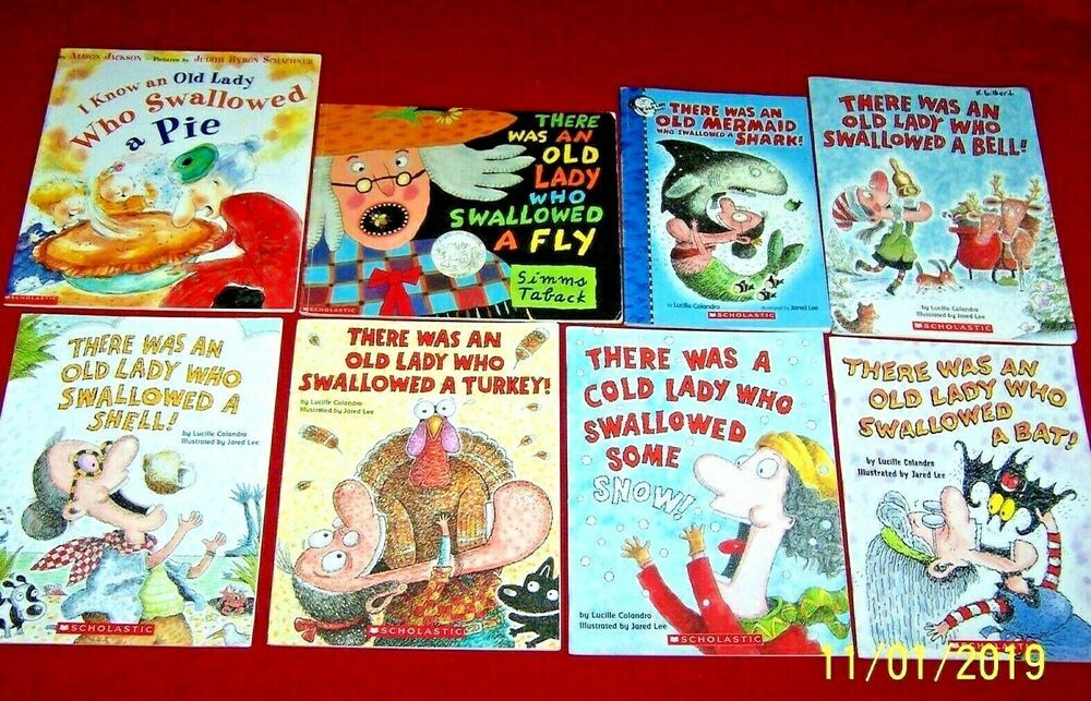 8 there was an old lady who swallowed a fly books turkey