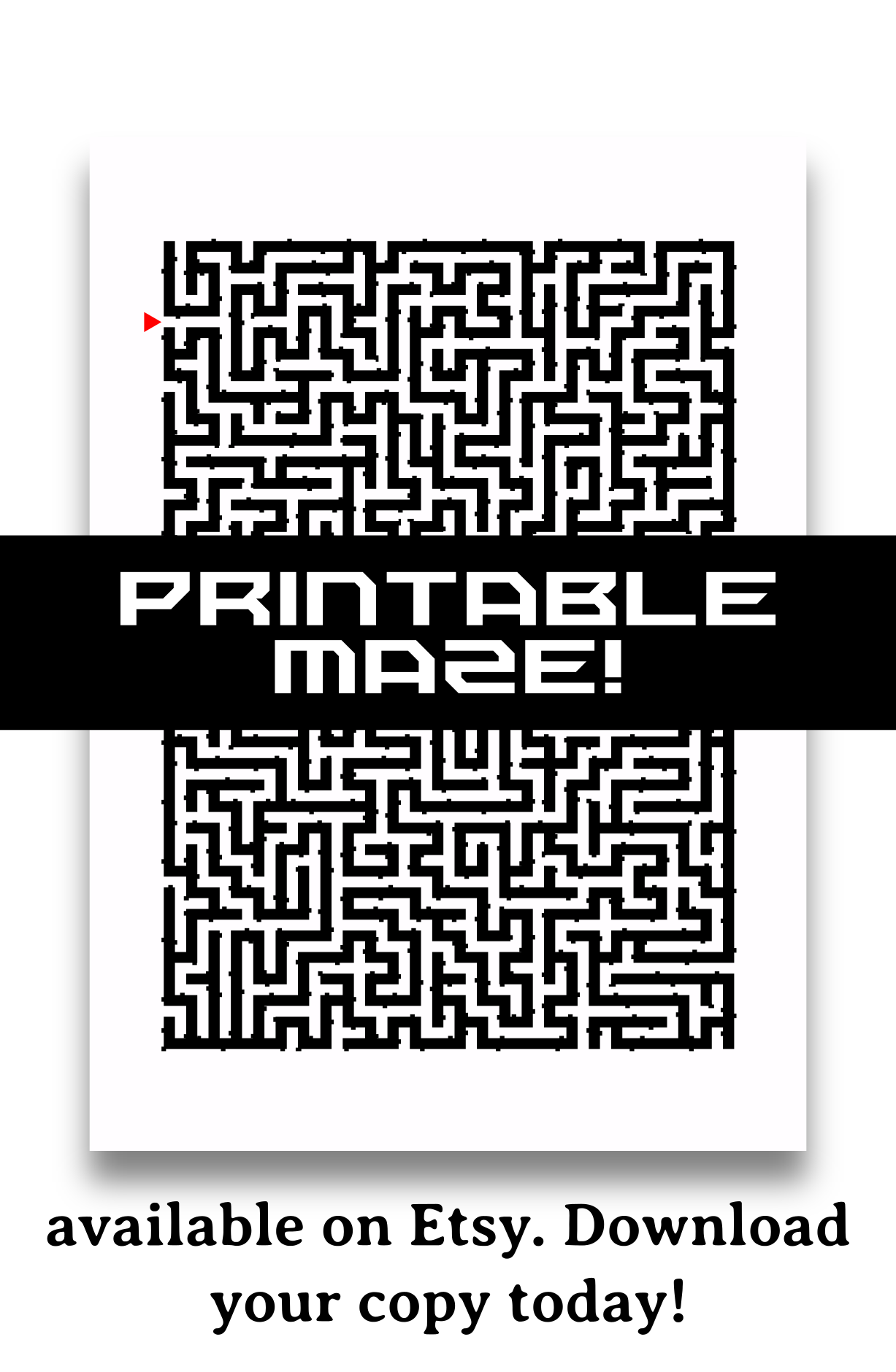 Printable Maze With Multiple False Exits This One S A