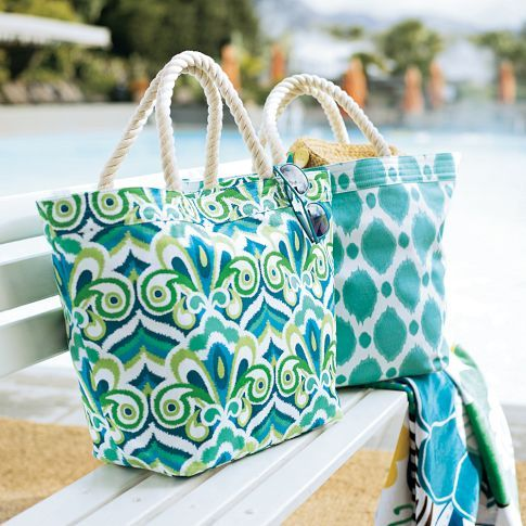 cute Pottery Barn Teen beach bag Get some colorful canvas and rope ...
