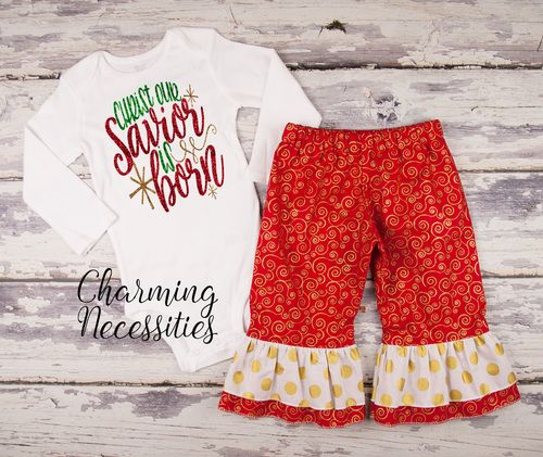 Baby Girl First Christmas Outfit, Toddler Christmas Outfit, Holiday