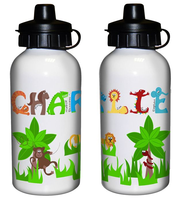 Another extravagant way to convey your emotions. Personalise this Animal Alphabet Drinks Bottle with any name up to 12 characters per line. For more detail visit @ http://www.bit-sit.co.uk/animal-alphabet-drinks-bottle-p-5291.html