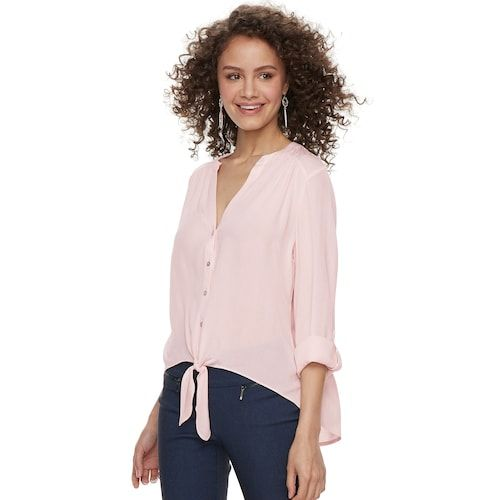 """d5ba3b2ac Juniors' Candie's® Crepe Button-Front Shirt   """"Fashions fade, style ..."""
