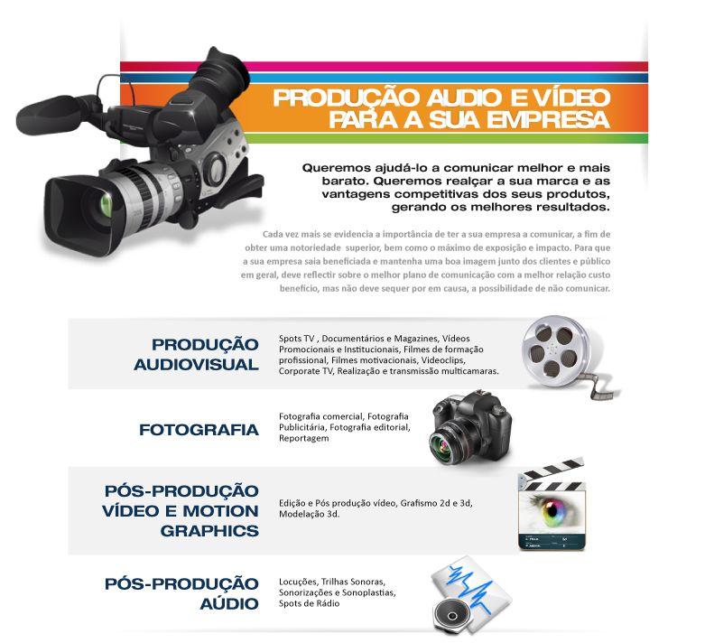 Produção Aúdio e Vídeo Empresarial