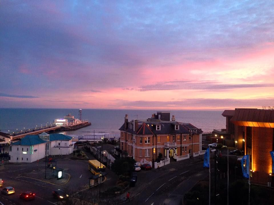 View Of Bournemouth Pier At Sunset From Park Central Hotel