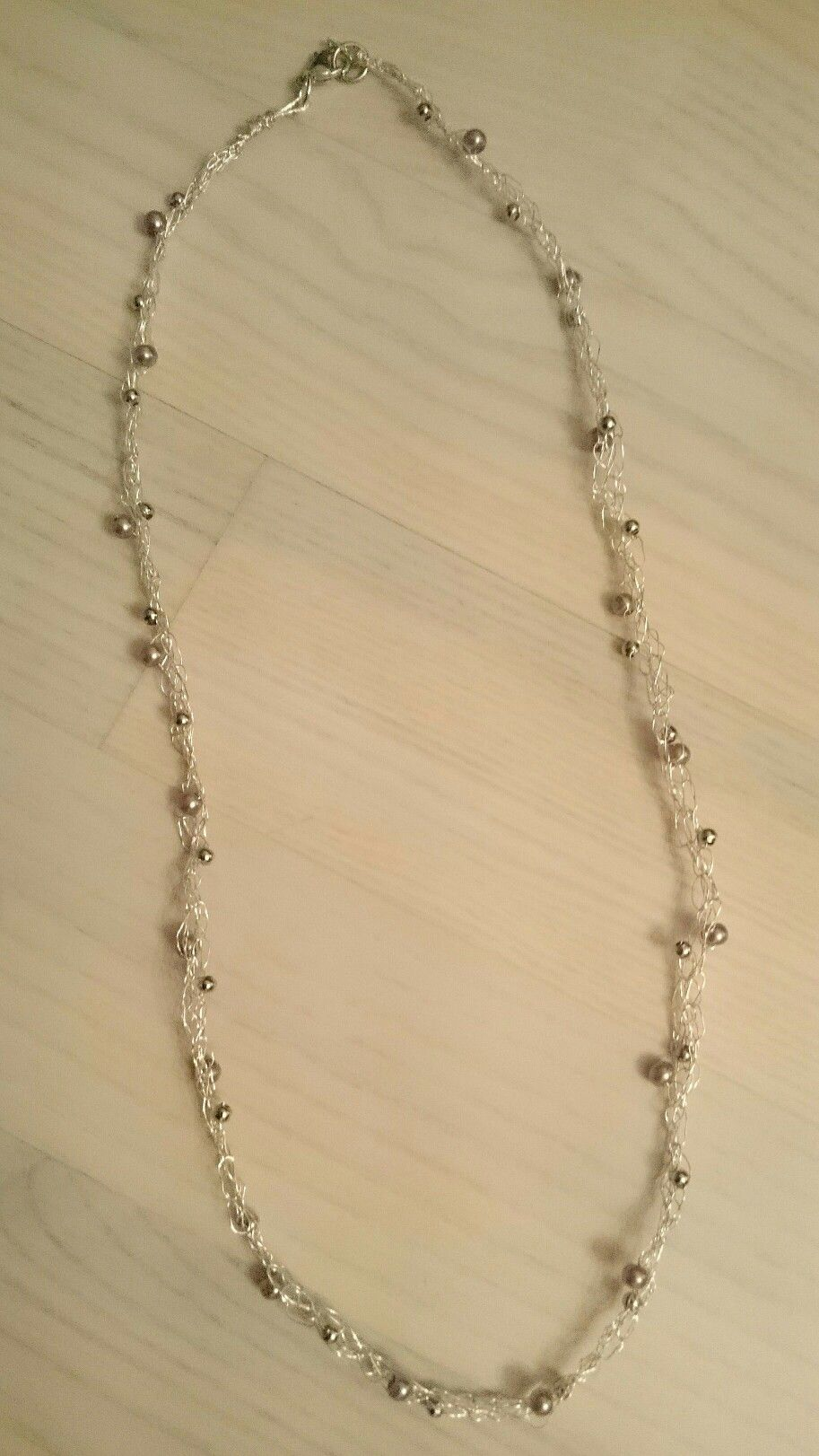 Kette - gehäkelt aus Draht und Perlen sowie geflochten | DIY Michis ...