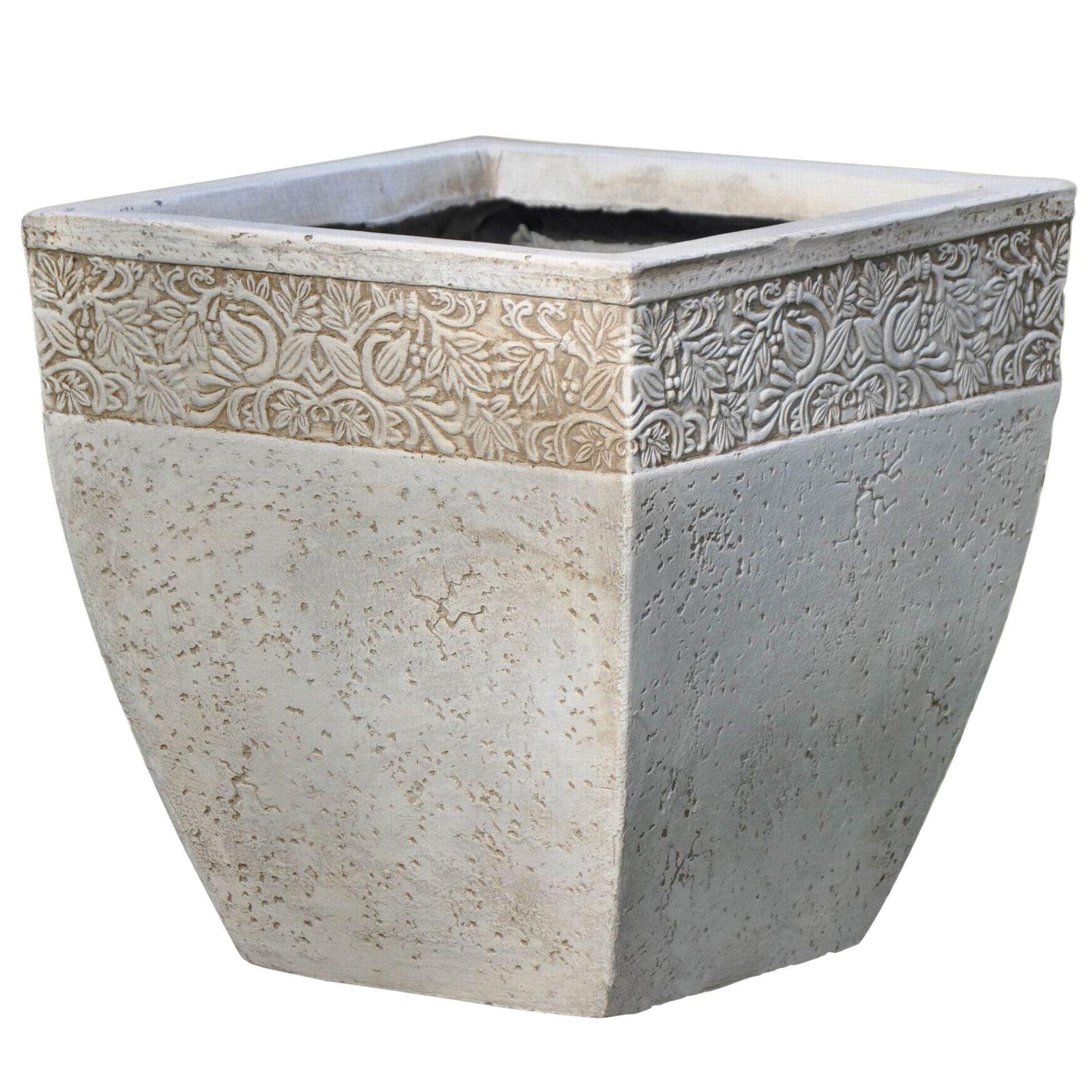 Ash Square Cream Planter (H)310mm (L)300mm | Garden this house ... on
