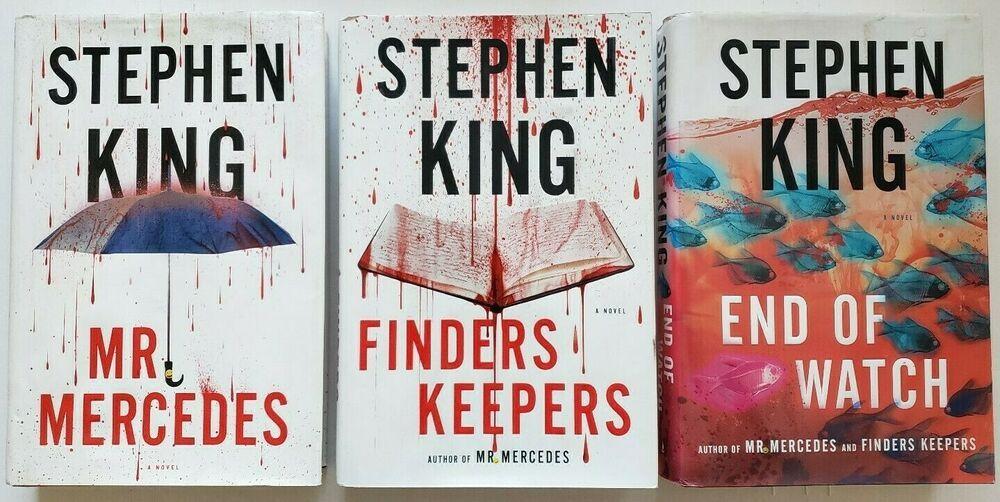 3 Stephen King Bill Hodges Trilogy Mr Mercedes Finders Keepers End Of Watch Hc Leer Libros