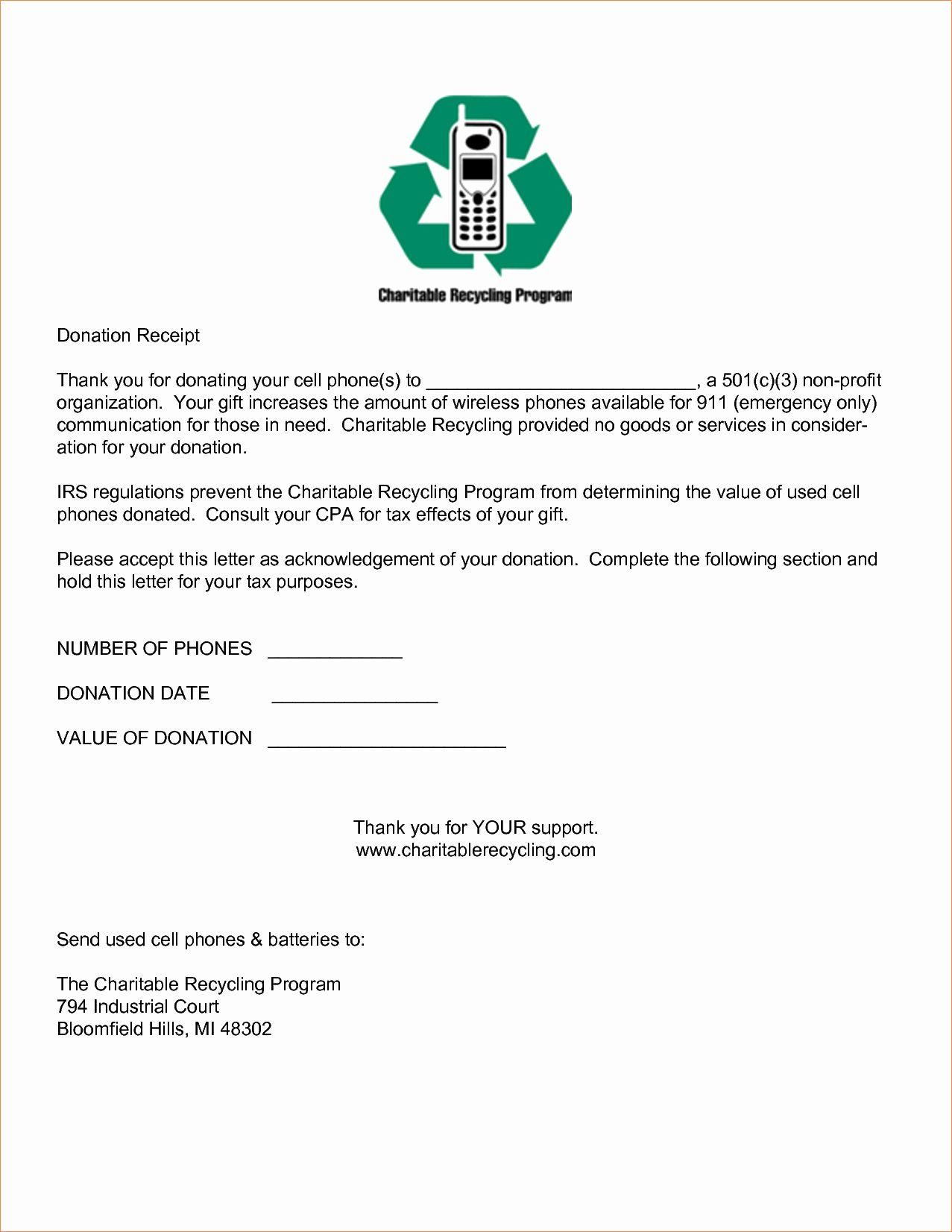 Donation Receipt Letter Template Inspirational 5 Sample Donation Receipt Doctors Note Template Letter Templates Receipt Template