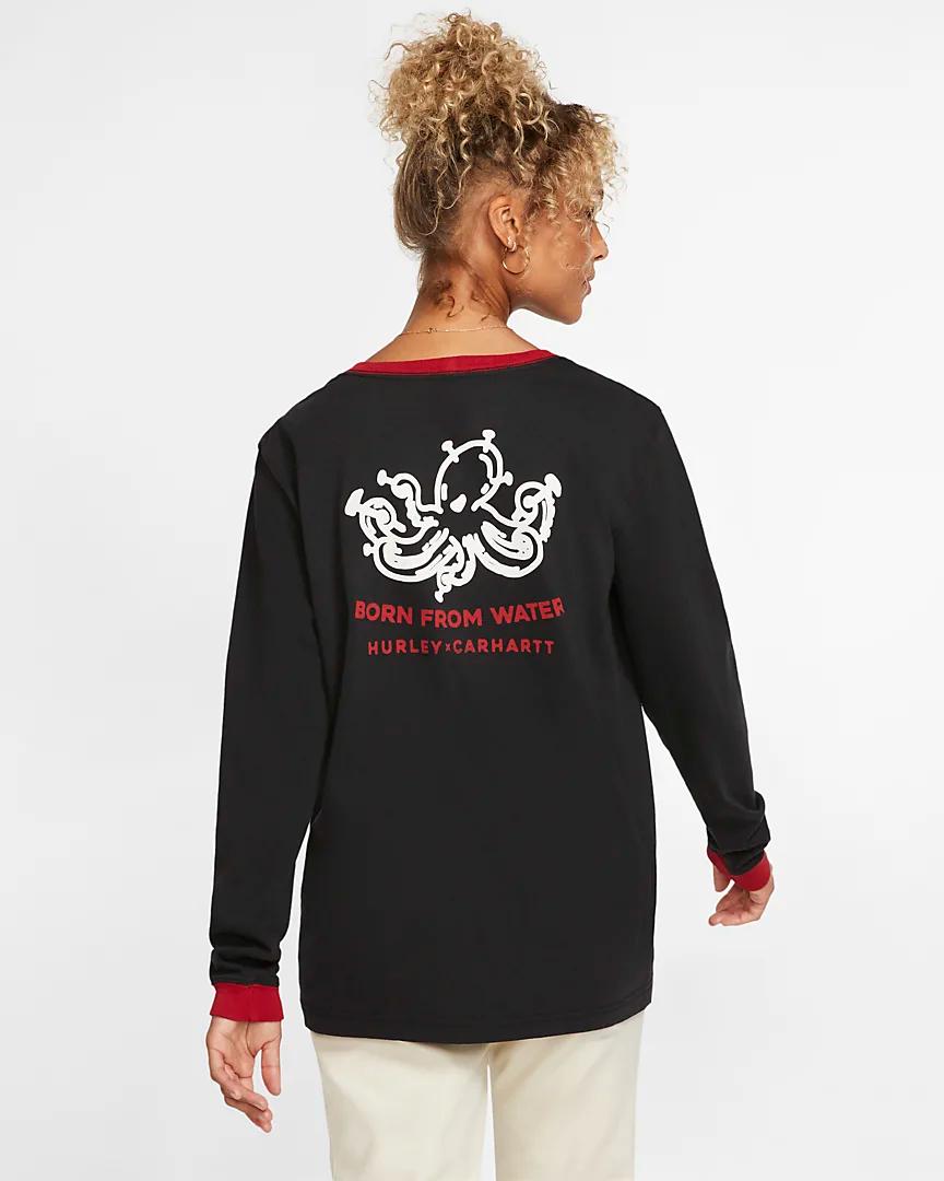 Hurley x Carhartt Outwork Ringer Women's Long Sleeve T Shirt