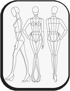 Pin By Paweena Boonphet On Jangrawee Fashion Figure Templates Fashion Figures Fashion Design Template
