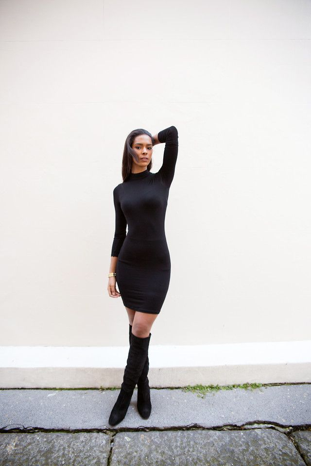 And knee dress the boots over bodycon women