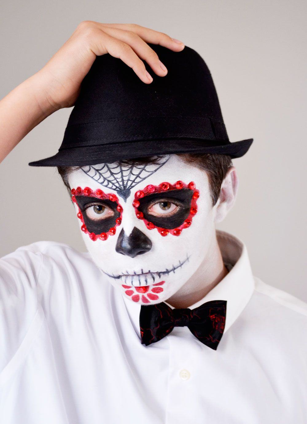 Day of the Dead Makeup Tutorial for Guys Halloween Boo