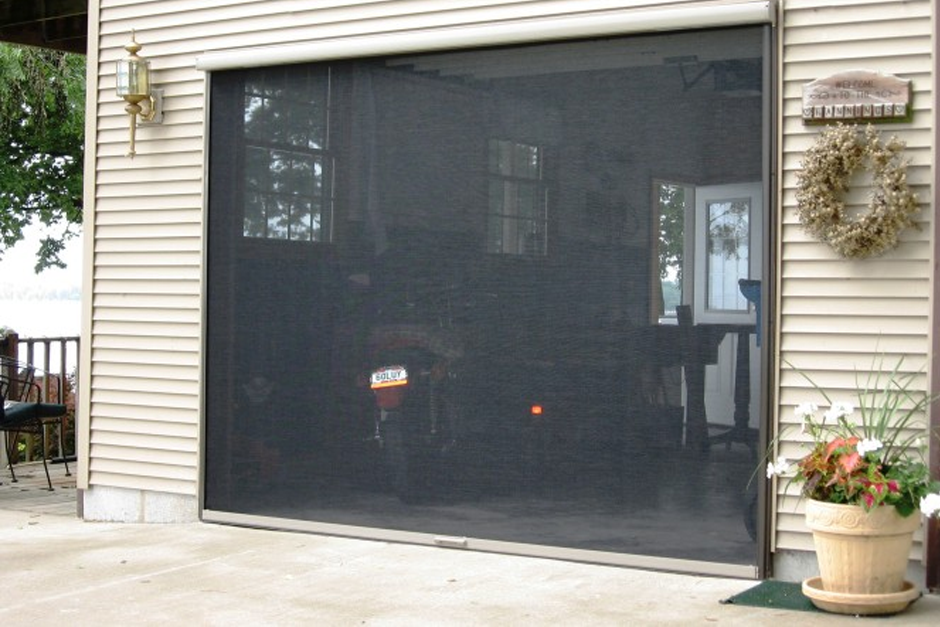 Panoramalite Retractable Garage Screen Outdoor Projects