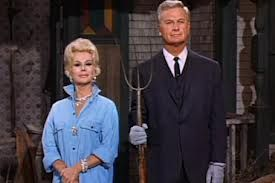 """""""Gothic Acres""""  My favorite parody version: Lisa and Oliver Wendall Douglas from television's GREEN ACRES"""