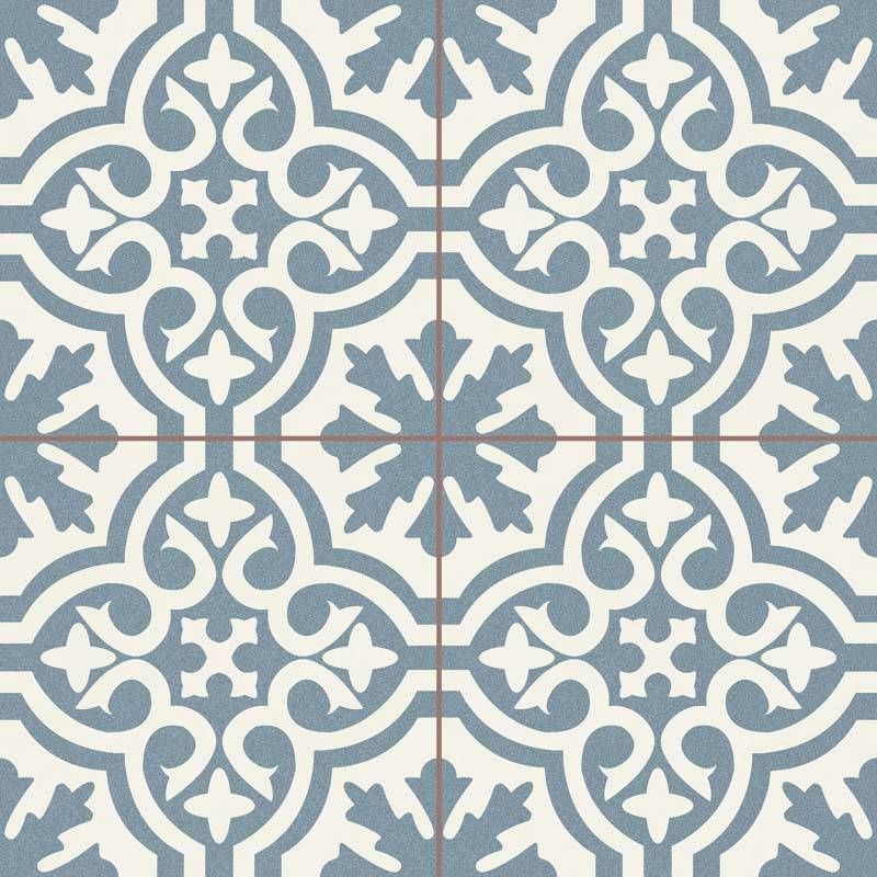 Carrelage Imitation Carreaux De Ciment Neufs Bleu Blanc