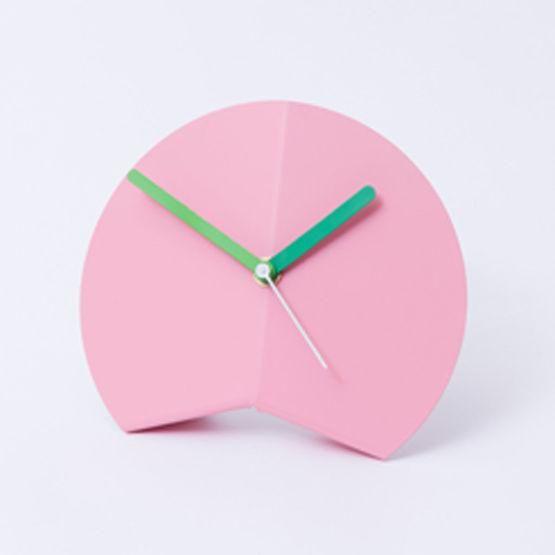 Block Design Origami Desk Clock Pink - Trouva