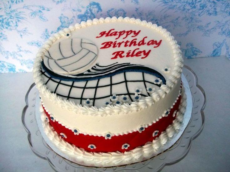 Volleyball Birthday Cake Cakepins Pasta Laminada Pinterest