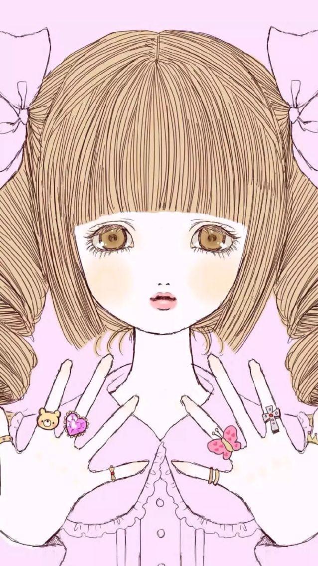 Pin by kissmefirefrog on kawaii backgrounds old kawaii - Girly girl anime ...