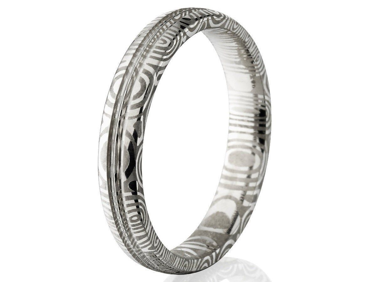 The Jewelry Source Damascus Steel Ring Damascus Steel Rings for Men