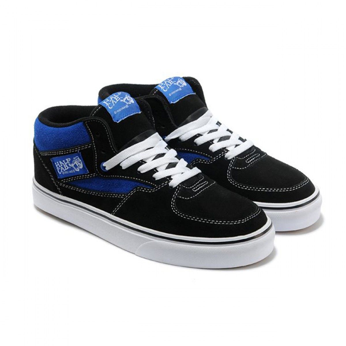 03f0252243 Vans Shoes Black Blue 20th Anniversary Half Cab Shoes Mens Classic Canvas