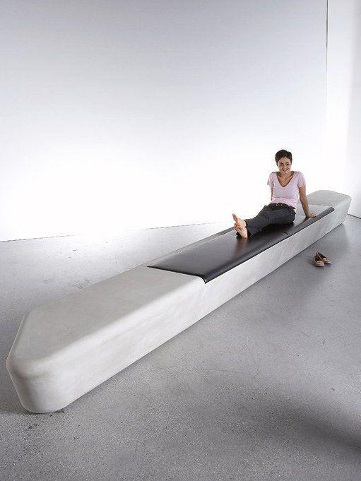 Modular Fiber Reinforced Concrete Bench Loba By Tlf Design Furniture Design Modern Concrete Furniture Concrete Interiors