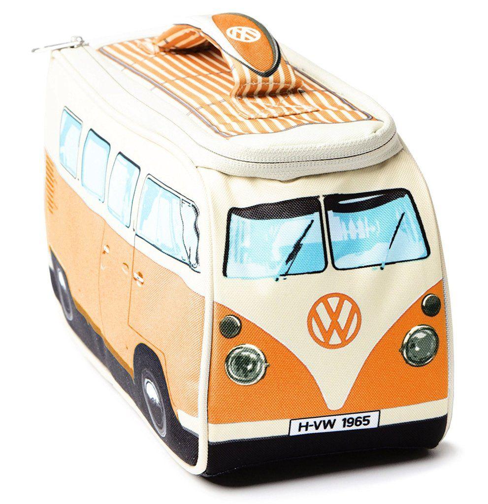 """Large New VW Volkswagen /""""Officially Licensed/"""" Camper Van Bus Lunch Bag Blue"""