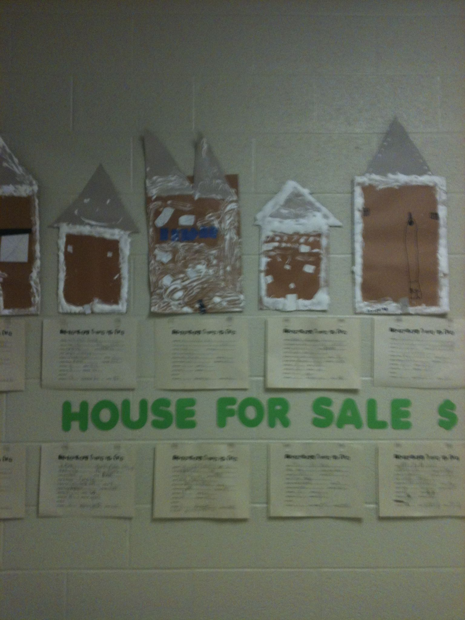 Gingerbread House For Sale 1st Graders Completed Their