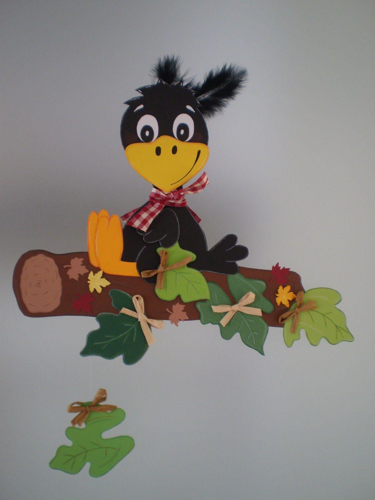 Fensterbild Rabe Auf Ast Herbst Dekoration Tonkarton Eur 12 00 Pinecone Crafts Kids Autumn Crafts Fall Crafts