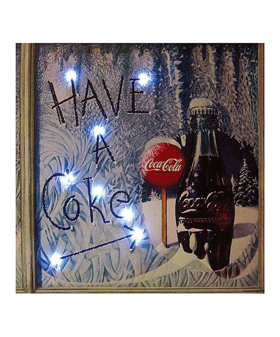 Another great find on #zulily! Coca-Cola 'Have a Coke' Light-Up Canvas by Coca-Cola  #zulilyfinds