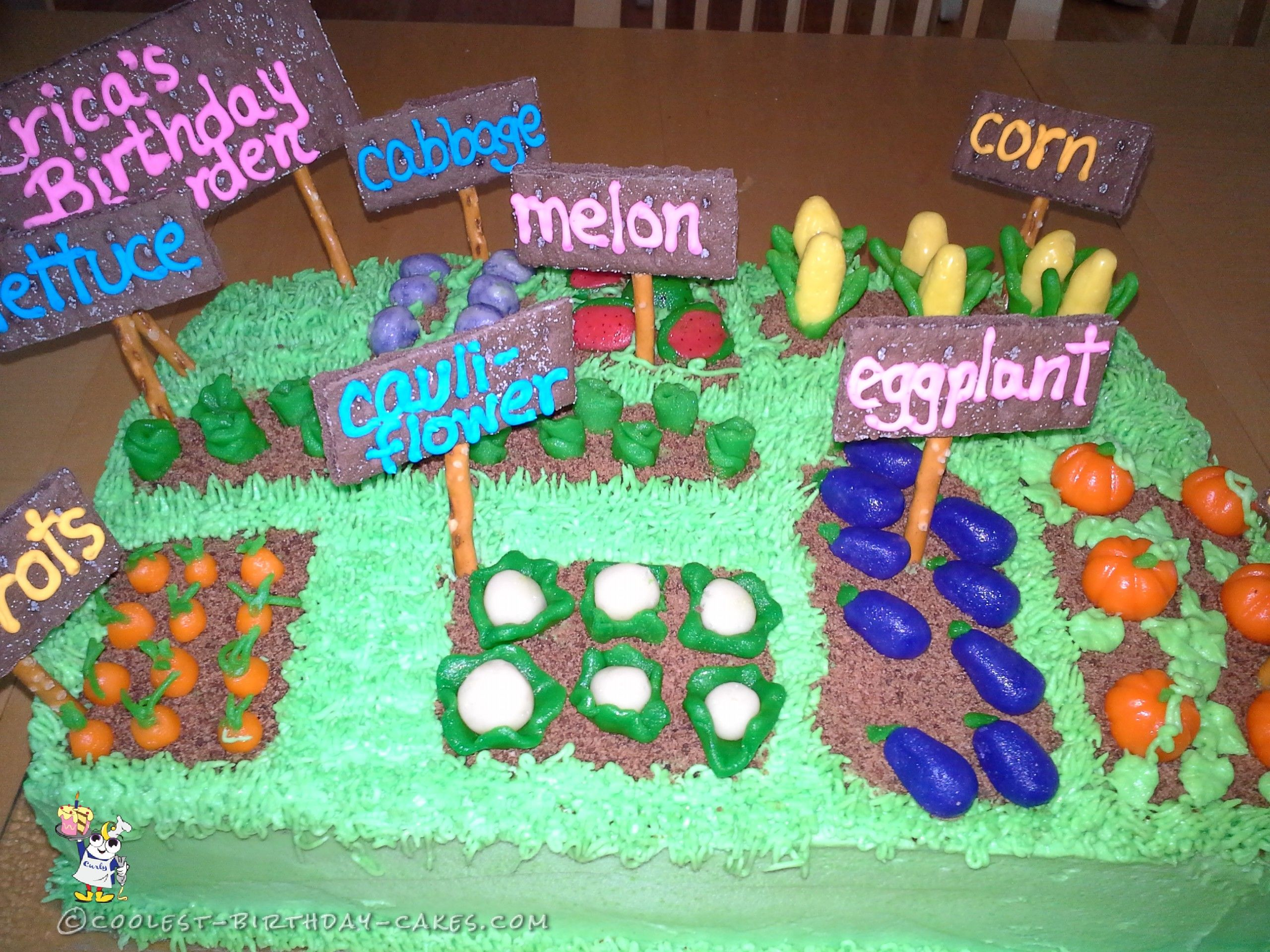 Amazing Easy Vegetable Garden Cake Cool Birthday Cakes Vegetable Garden Funny Birthday Cards Online Alyptdamsfinfo