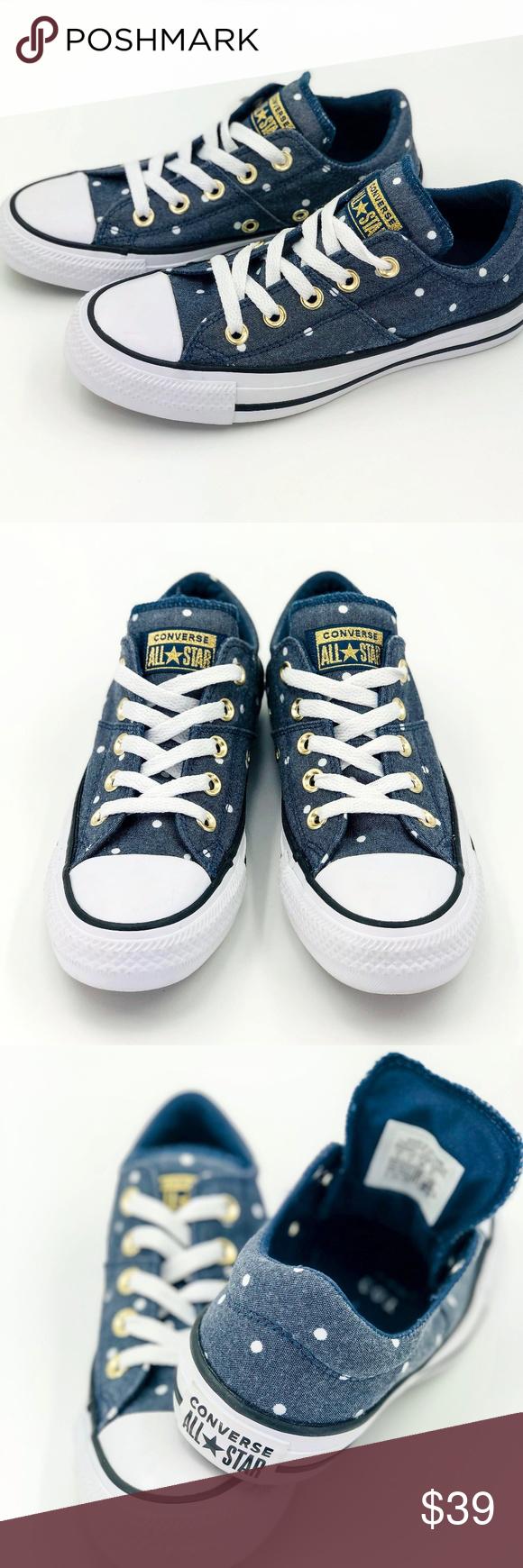 30d9dc18d107 Blue Converse Madison Mini Dots Low Top Sneaker Description  New never worn  Women s Size 5