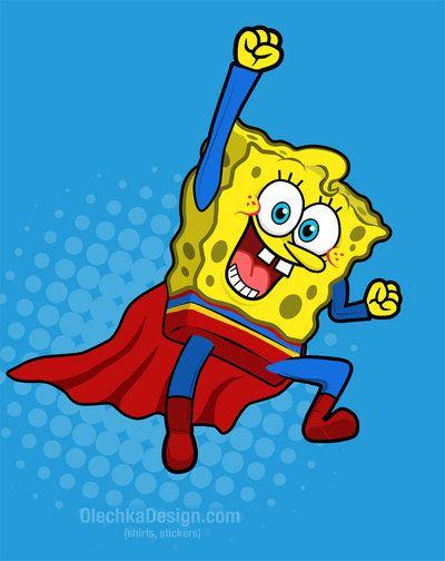 Super Sponge By Olechka01 Deviantart Com Spongebob Drawings Spongebob Painting Funny Spongebob Memes